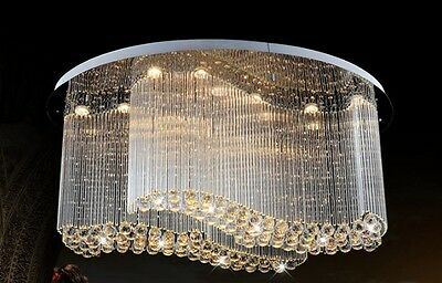 crystal chandelier Curtain Pendant Fixture hang hall Ceiling lamp LED light 2s