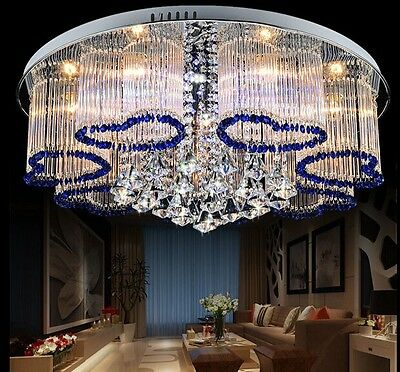 crystal lamp chandelier Pendant Curtain ceiling led light hang Fixture hall H21