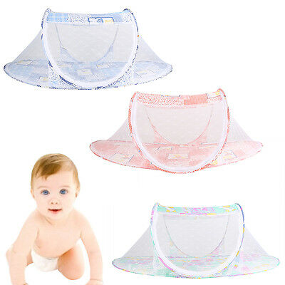 AU Baby Infant Foldable Kids Pop Up Cot Crib Bed Mosquito Net Travel Canopy Tent