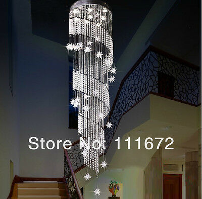 Crystal Ceiling LED Lamp hang light Fixture Curtain Pendant Chandelier hall st1