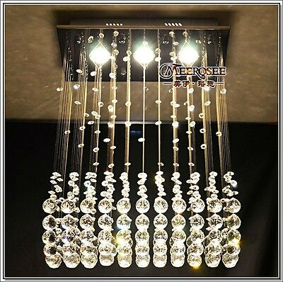 Crystal Chandelier Ceiling Lamp hang light Fixture Curtain Pendant LED hall r1