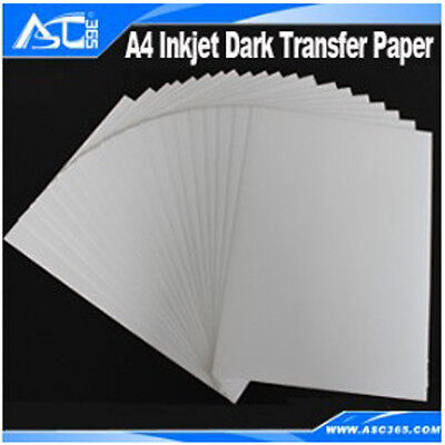 A4 Dark Inkjet Heat Transfer Paper DIY T-shirts 20 Sheets/package Promation