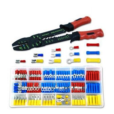 175 Piece Electrical Wire Stripper Crimping Crimper Tool Kit Solderless Terminal