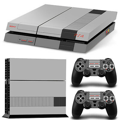 Skin Ps4 Protection Decor Nintendo Nes Style Autocollant Sticker Ps4S008