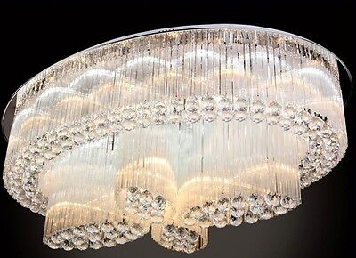 Chandelier Curtain Pendant Ceiling Fixture hang lamp Crystal LED light hall v23