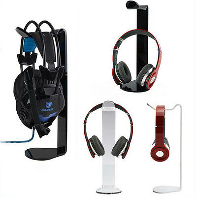 New Acrylic Earphone Headset Hanger Holder Headphone Stand Holder Desk Display