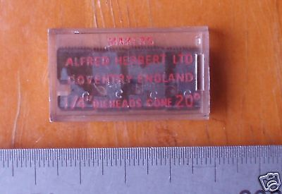"S.A.E. UNF NF 8-36 ( .164 x 36) S type 1/4"" Dieheads Coventry Die Head chaser"