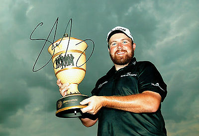 Shane LOWRY SIGNED AUTOGRAPH Gary Player Cup Golf Winner 12x8 Photo AFTAL COA