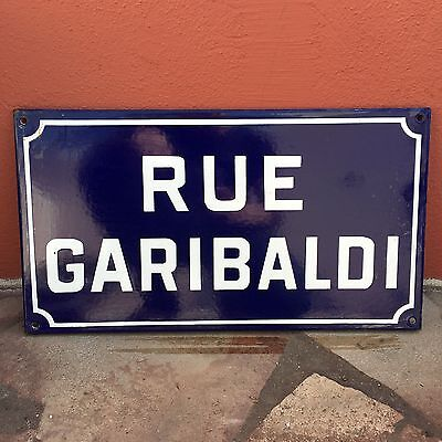 Old French Street Enameled Sign Plaque - vintage garibaldi 2