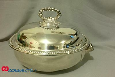 Antique Mappin & Webb Silverplate Warming Serving Dish With Cover
