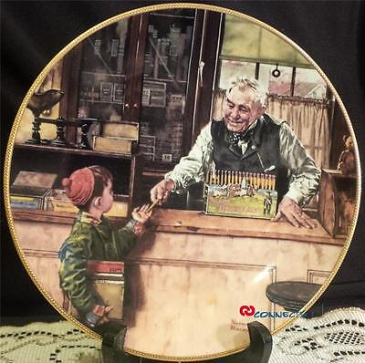 Edwin M Knowles Norman Rockwell Back to School Plate