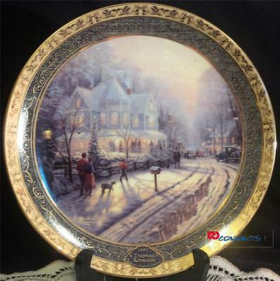 Thomas Kinkade A Holiday Gathering Plate