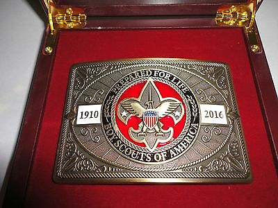 Boy Scouts of America 2016 Limited Edition Collector's Belt Buckle & Case