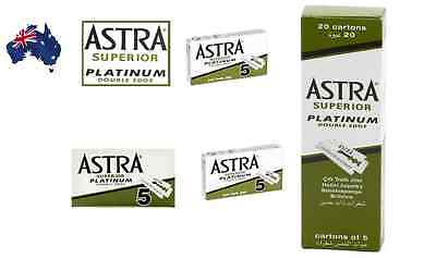 Astra Superior Platinum Double Edge Razor Blades - Aus Seller