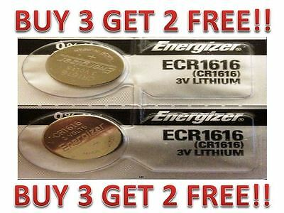 Energizer ECR1616 CR 1616 (2 piece) Lithium 3V Battery New BUY 3 GET 2 FREE!!