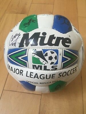 DC United '99 Team Autograph MLS Soccer Ball Pope Moreno Etcheverry Authentic
