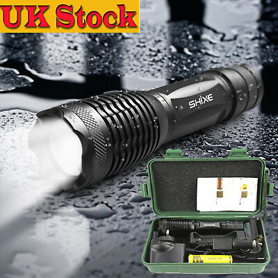 NEW Police LED Flashlight Tactical 5000LM XML-T6 Zoomable Zoom Torch Lamp UK-02D
