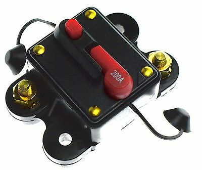 200 AMP 12V DC CIRCUIT BREAKER REPLACE FUSE 200A 12VDC Car Audio Marine safety