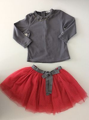 CHATEOU DE SABLE 2 piece Outfit Set Skirt & Top  Age 3 Years / 36 M Months Vgc