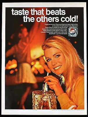 1968 PEPSI Vintage Ad - Taste That Beats the Others Cold! 1960's Pepsi Soda Ad
