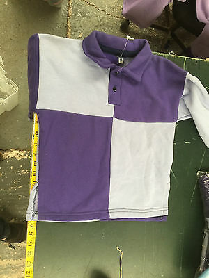 Griffin Nuumed X Country Shirt Purple Pale Blue Age 6-8 Years Child Purpl Collar