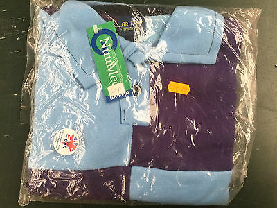 Griffin Nuumed X Country Shirt Purple Pale Blue Age 6-8 Years Child Blue Collar