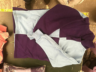 Griffin Nuumed X Country Shirt Purple Pale Blue 11-13 Year Childs Purple Collar