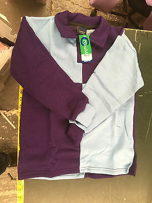 Griffin Nuumed X Country Shirt Pale Blue Purple Childs Age 8-10Years Purple Coll