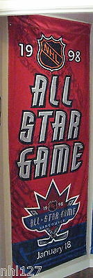 1998 NHL Hockey All Star Game Authentic Banner, Jan 18, GM Place, Vancouver