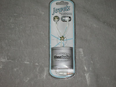 Jewelz Earbuds Noise Isolating 3.5mm Plug MP3 Phone Stereo Stars NEW!