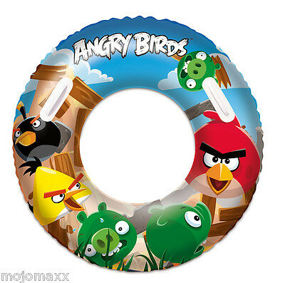 Inflatable Angry Birds Tyre Tire Tube Ring Beach Swimming Aid Pool Lilo Float