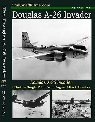 Douglas A-26 Invader Bomber DVD Films WW2 Army Air Forces
