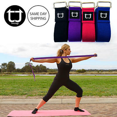 TWOTAGS Yoga Straps MAT BELT STRETCH WAIST FITNESS EXERCISE GYM TRAINING WARM UP