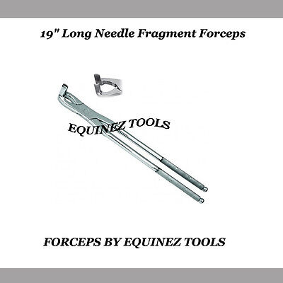 "19"" Equine Long Needle Fragment Forceps with Pouch, Stainles Steel,Equine dental"