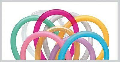 100 x QUALATEX 260Q MODELLING BALLOONS - ENTERTAINER ASSORTMENT FREE DELIVERY