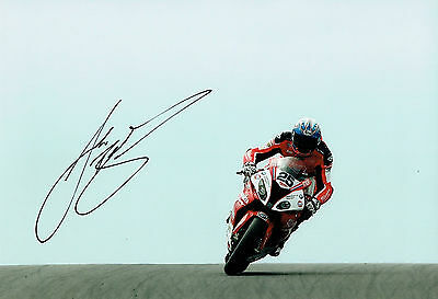 Josh BROOKES SIGNED WSBK Milwaukee BMW Rider Autograph 12x8 Photo D AFTAL COA