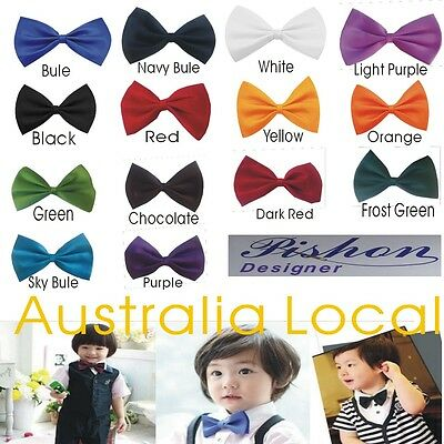Boys Bow Tie Adults Men Children Kids Toddler Wedding Bowtie Pre-Tied Adjustable