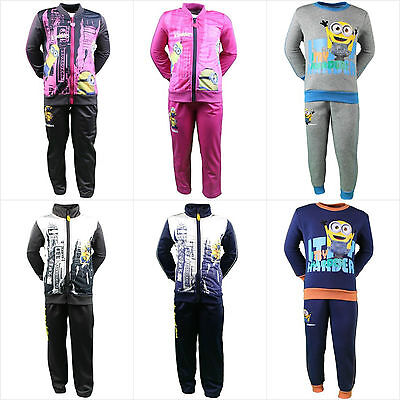 Minion Jogging Set Tracksuit Jumper Sweater Top Clothing Set Outfit Age 2-8Y BNT