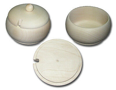 Plain Wood/ Sugar Sweets Container- Diameter: 12cm, H:8cm Decoupage Art Craft