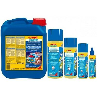 Sera aquatan For permanently fish friendly,safe and clear water 50,100,250,500ml