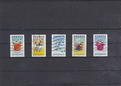 France 2007 Invitation 5 Timbres Obliteres Yt 129 A 133