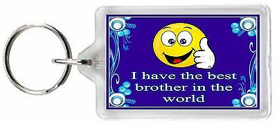 Best Brother Love Whole World Funny Face Quote Saying Gift Present Novelty
