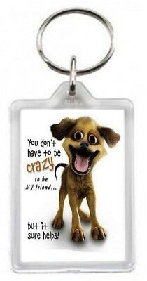 Funny Crazy Mad Dog Pet Good Best Friend Help Quotes Saying Gift Present Novelty