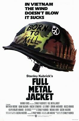 """FULL METAL JACKET (1987) Movie Poster [Licensed-New-USA] 27x40"""" Theater Size"""