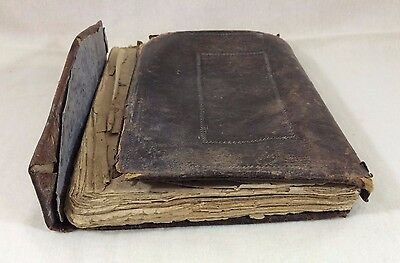 ANTIQUE 1800s ISLAMIC Quran Leather Cover Inscription SOMALIA /1 of a Collection