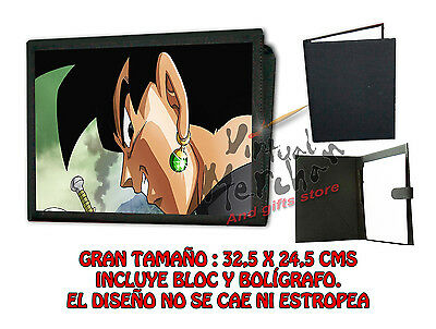 CARPETA BLACK GOKU ROSTRO DRAGON BALL SUPER LONETA NEGRA FOLDER bloc es