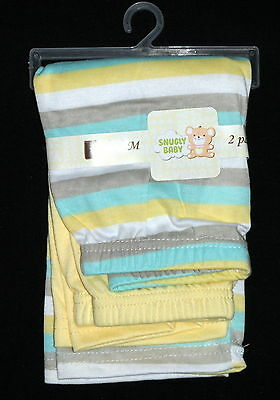 SNUGLY BABY Unisex 2 Pc Pants Striped, Solid Size 0-3 Months NWT