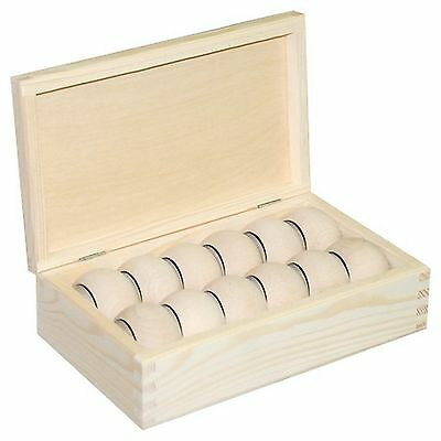Plain Wooden Box with 6 or 12 Napkin Rings Holders Wedding Table decoration Gift