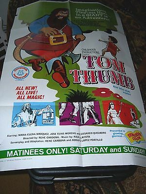 TOM THUMB 1967 One Sheet, Childhood Productions Children's Movie
