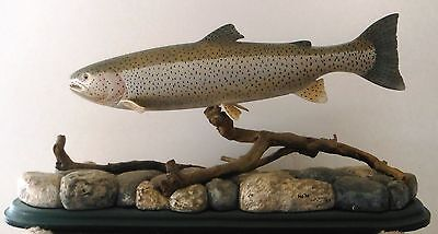 Beautiful Hand Carved Fish - Full Mount Searun Cutthroat Trout By Harold Walker